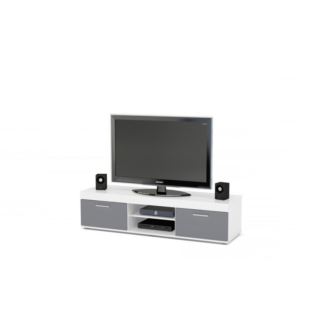 Edgeware White & Grey Tv Unit Pertaining To Best And Newest Edgeware Tv Stands (View 2 of 25)