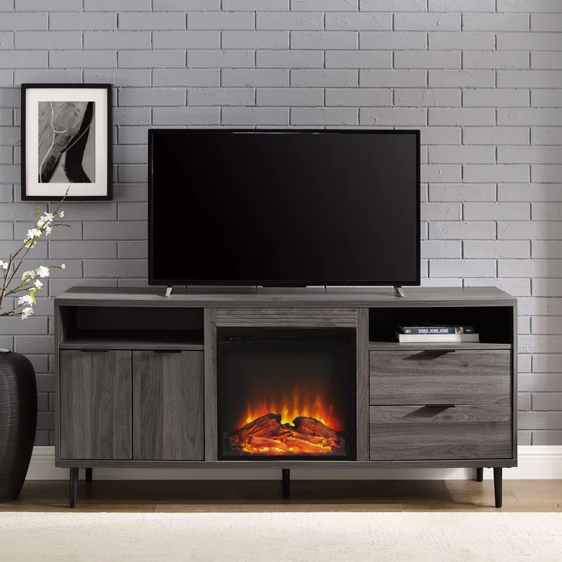 """Eglinton Tv Stand For Tvs Up To 65"""" With Fireplace For Best And Newest Hetton Tv Stands For Tvs Up To 70"""" With Fireplace Included (View 11 of 25)"""