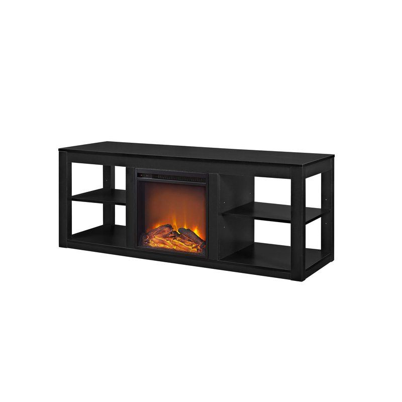 """Electric Fireplace Inside Rickard Tv Stands For Tvs Up To 65"""" With Fireplace Included (View 1 of 25)"""