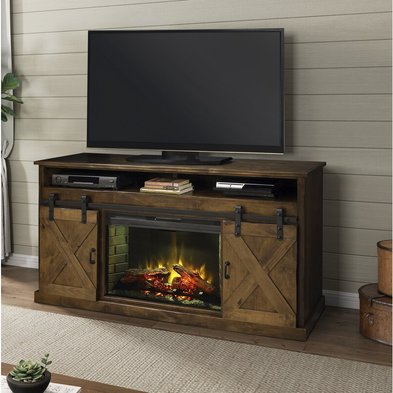 """Electric Fireplace Tv Stands With Shelf Inside Preferred Pullman Tv Stand For Tvs Up To 65"""" With Electric Fireplace (View 9 of 10)"""