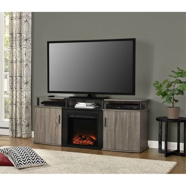"""Elian Tv Stand For Tvs Up To 70"""" With Fireplace Included Inside Preferred Hetton Tv Stands For Tvs Up To 70"""" With Fireplace Included (View 2 of 25)"""