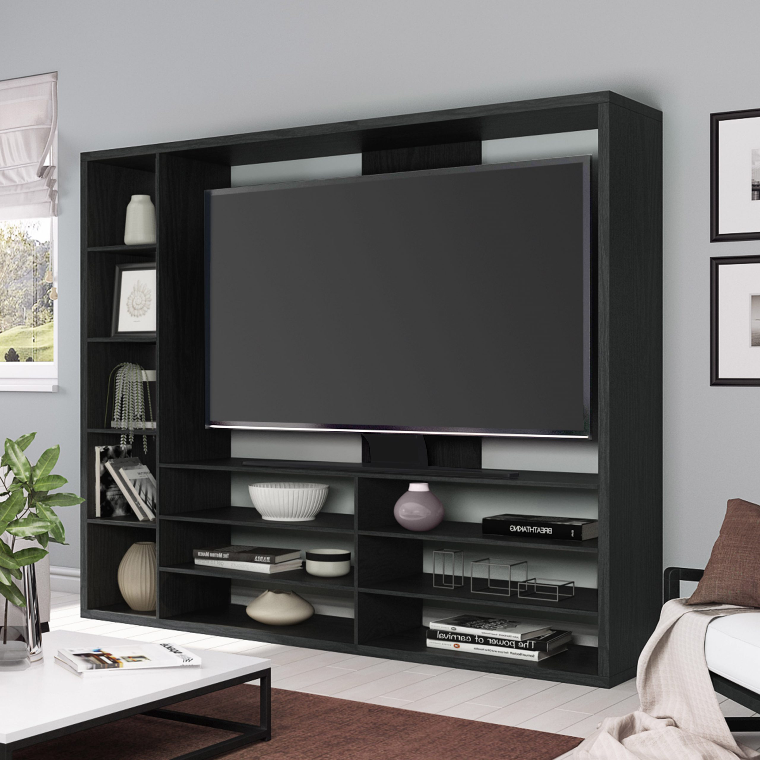 Entertainment Center Vs Tv Stand • Patio Ideas Pertaining To Most Popular Carbon Extra Wide Tv Unit Stands (View 6 of 10)
