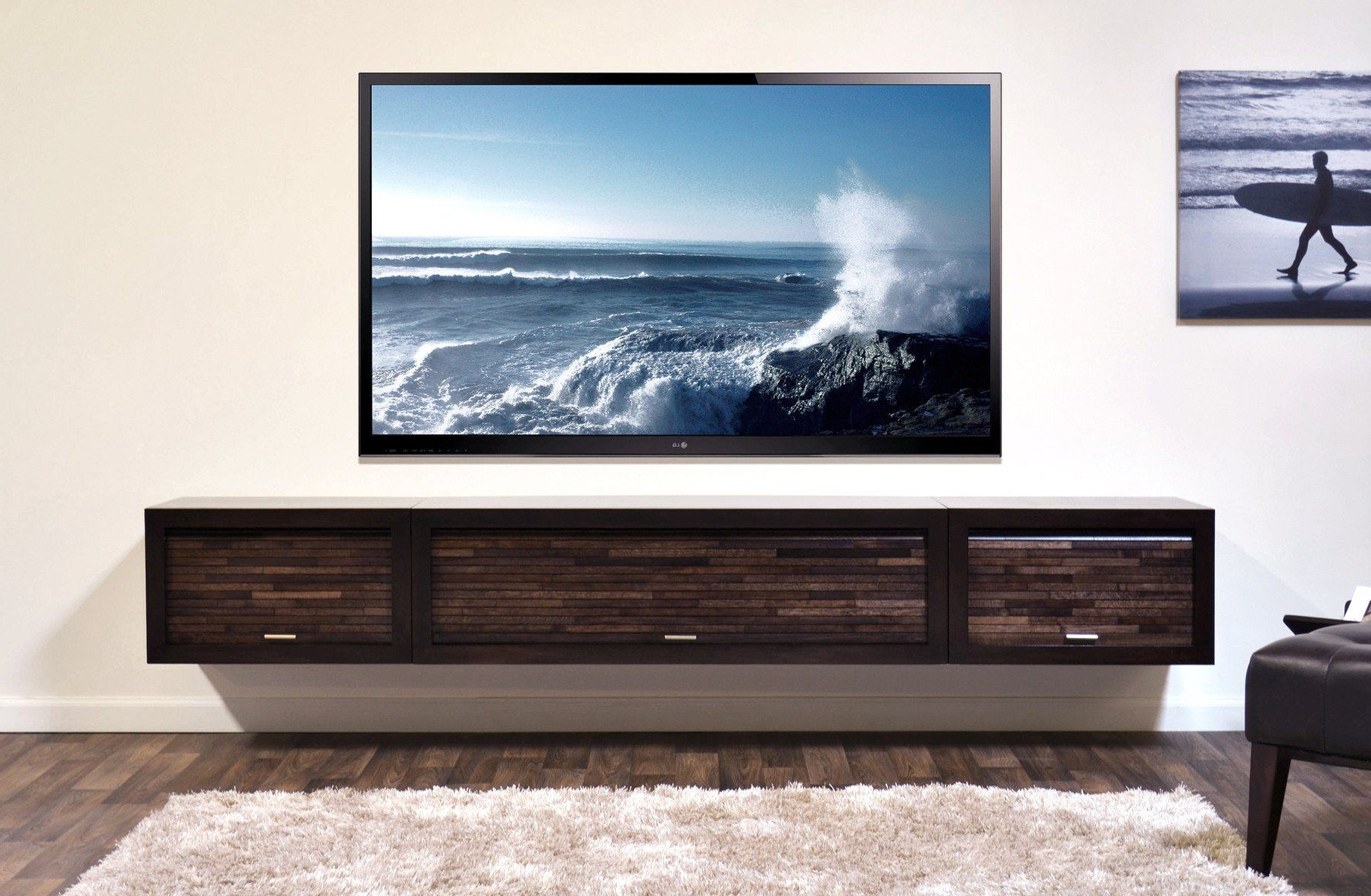 Entertainment Center With Regard To Well Known Floating Tv Shelf Wall Mounted Storage Shelf Modern Tv Stands (View 8 of 10)