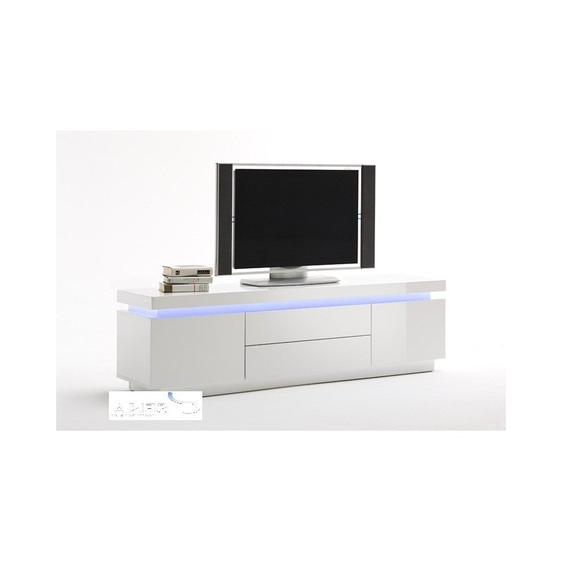 Famous 57'' Led Tv Stands With Rgb Led Light And Glass Shelves Regarding Avanti Gloss Tv Stand With Rgb Lights – Tv Stands – Sena (View 6 of 10)