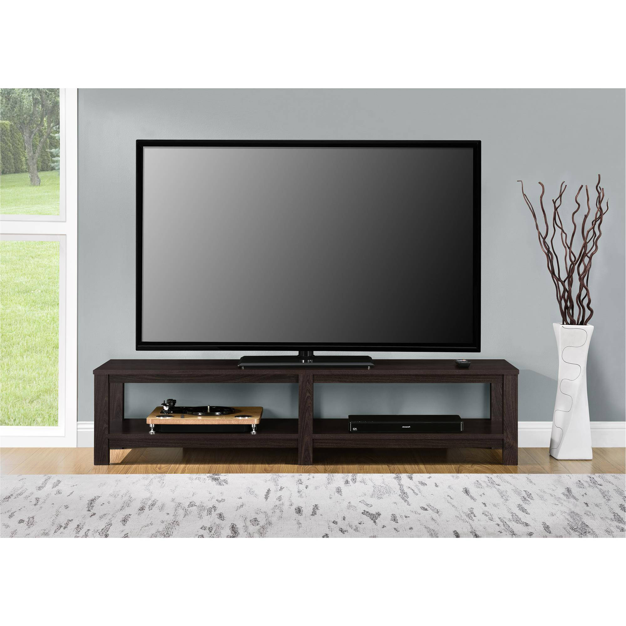 Famous 65 Inch Tv Media Entertainment Stand Console Table Mount With Regard To Mainstays Parsons Tv Stands With Multiple Finishes (View 1 of 10)