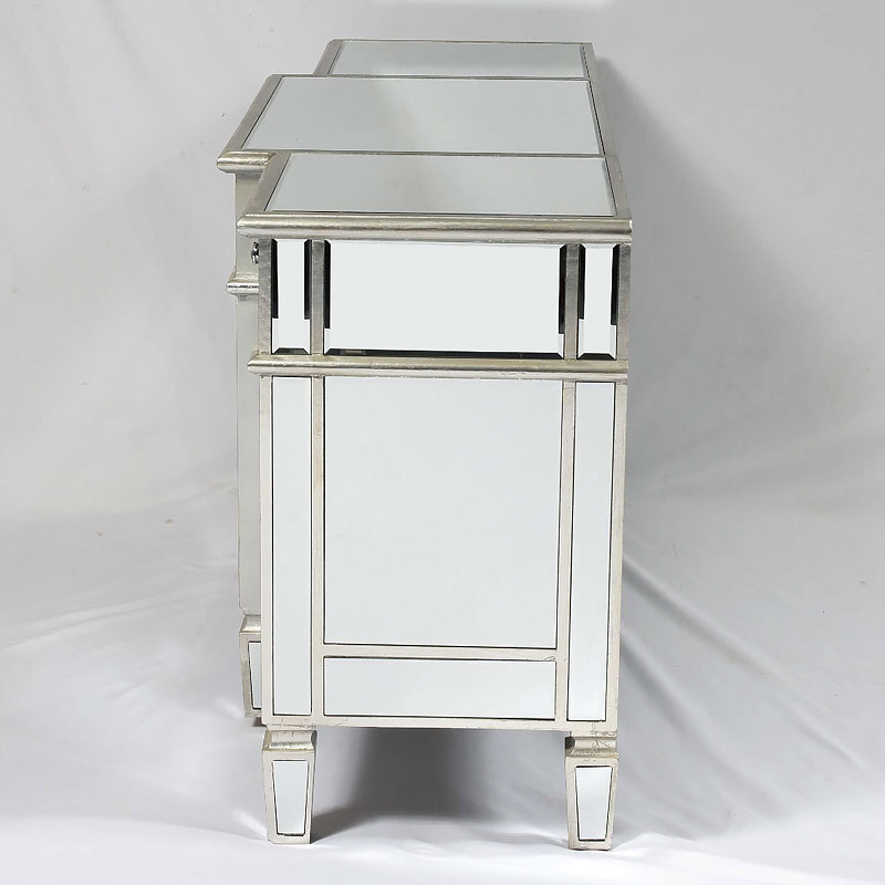 Famous Canterbury Silver Mirrored Venetian Media Entertainment Within Fitzgerald Mirrored Tv Stands (View 14 of 25)