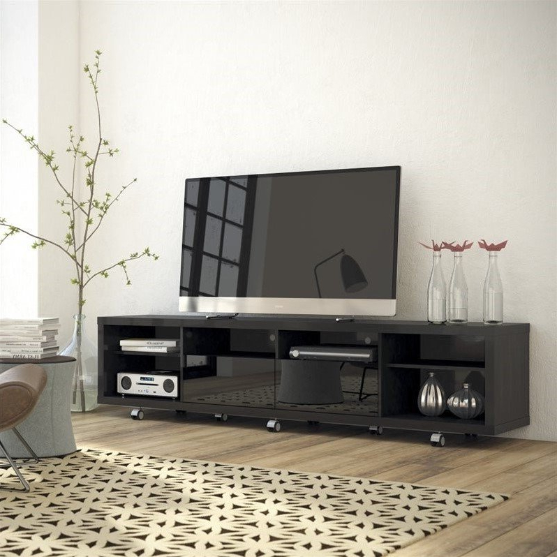 """Famous Casey May Tv Stands For Tvs Up To 70"""" Within Manhattan Comfort Cabrini  (View 11 of 25)"""