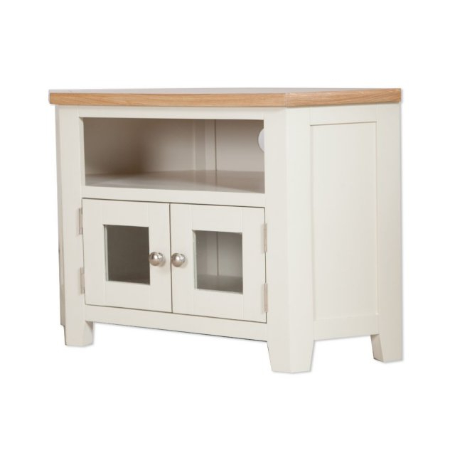 Famous Compton Ivory Corner Tv Stands In Oak City – Sydney Painted Ivory 105cm Glazed Corner Tv (View 3 of 25)
