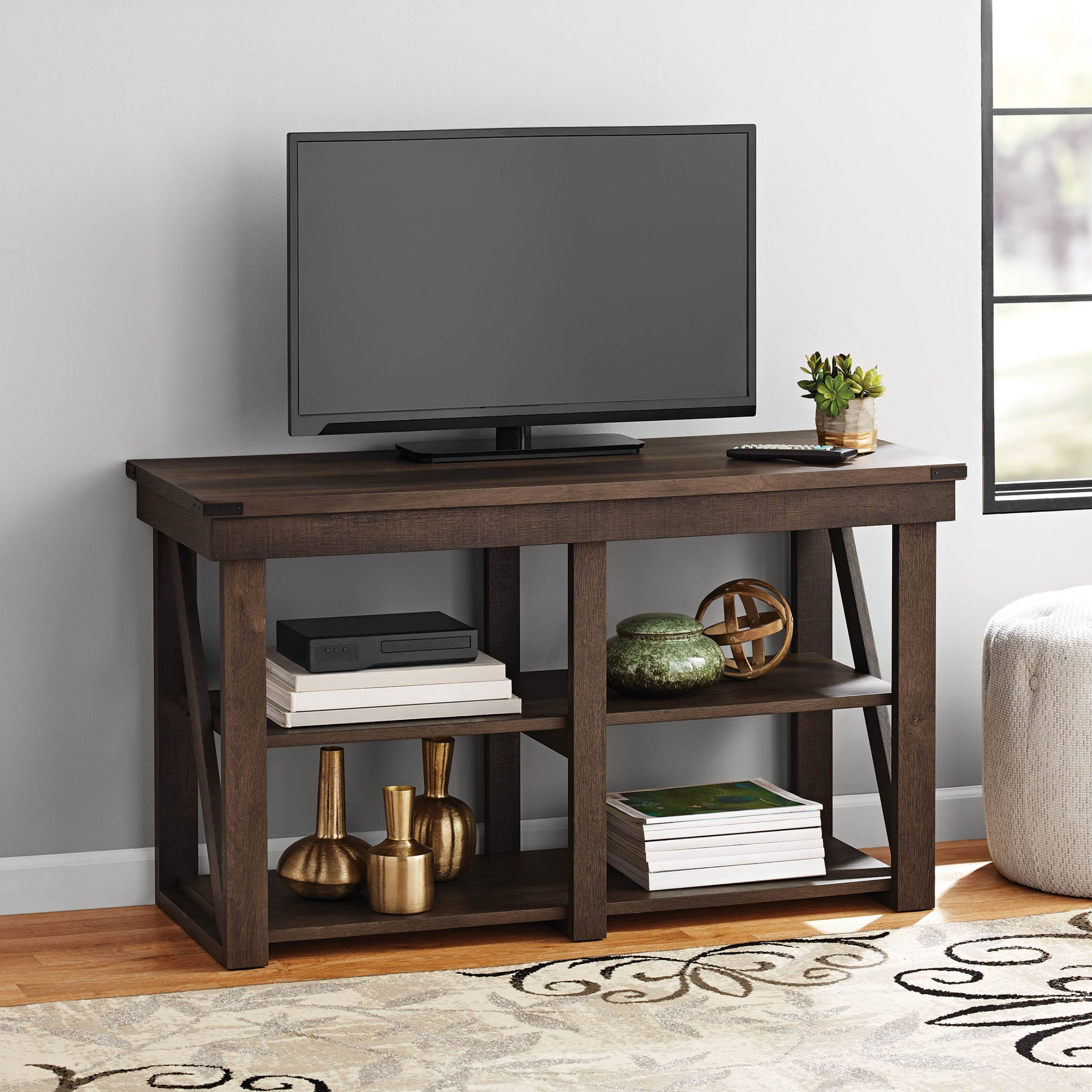 """Famous Lansing Tv Stands For Tvs Up To 55"""" For Mainstays Lawson Tv Stand For Tvs Up To 55"""", Espresso (View 6 of 25)"""