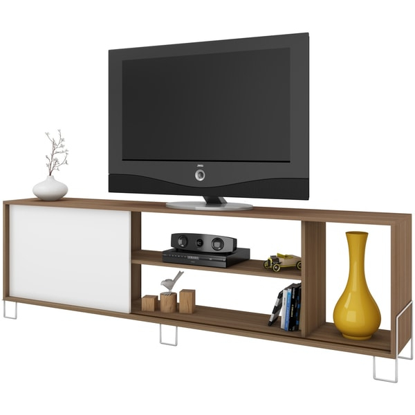 Famous Manhattan 2 Drawer Media Tv Stands Pertaining To Accentuationsmanhattan Comfort Nacka 4 Shelf Tv Stand (View 8 of 25)