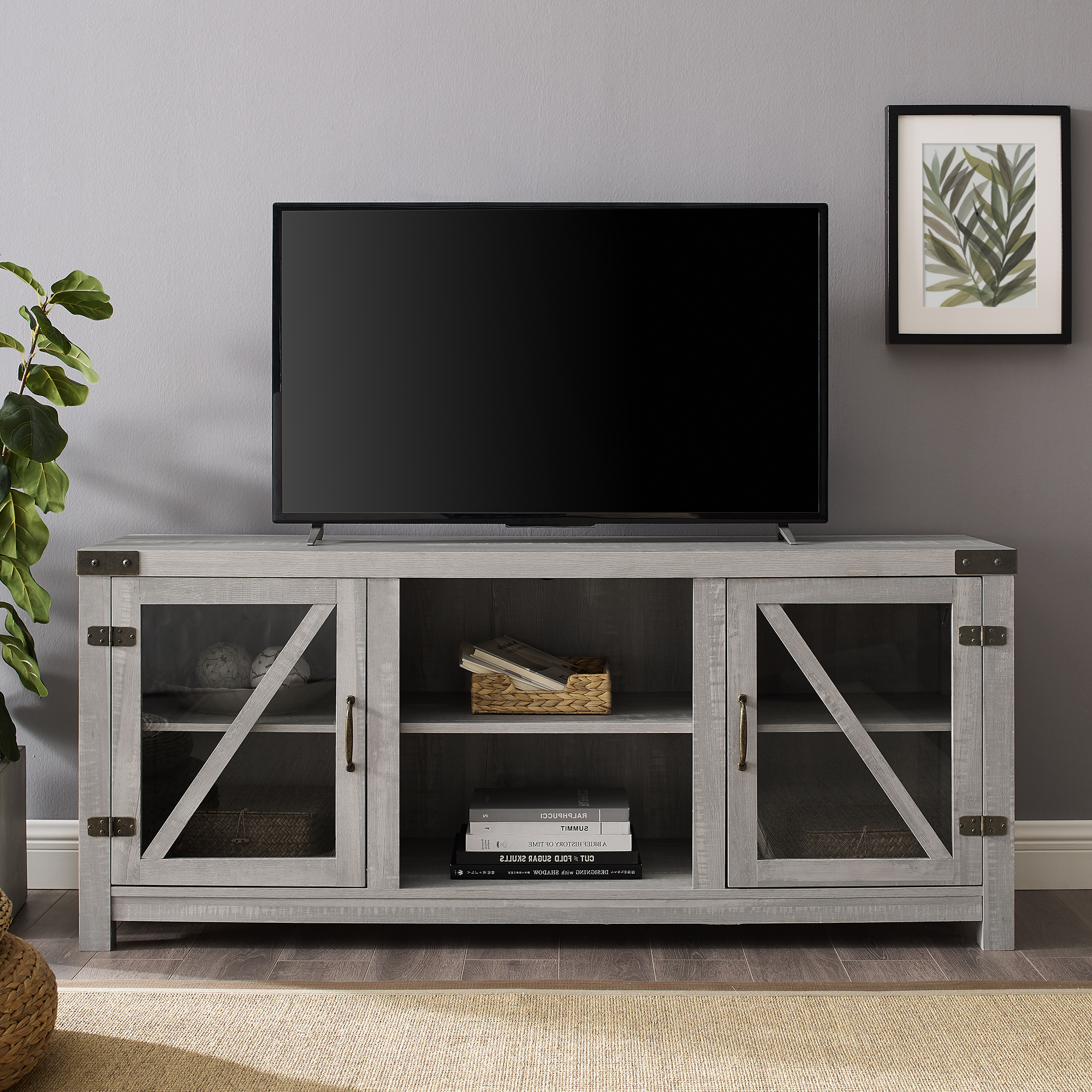 """Famous Manor Park Modern Farmhouse Tv Stand For Tvs Up To 65 Regarding Tv Stands For Tvs Up To 65"""" (View 11 of 22)"""