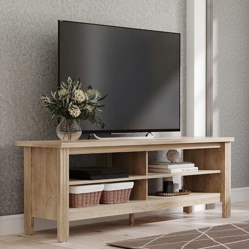 """Famous Maubara Tv Stands For Tvs Up To 43"""" Within Gracie Oaks Wampat Farmhouse Wood Tv Stands For 65 Inch (View 7 of 25)"""