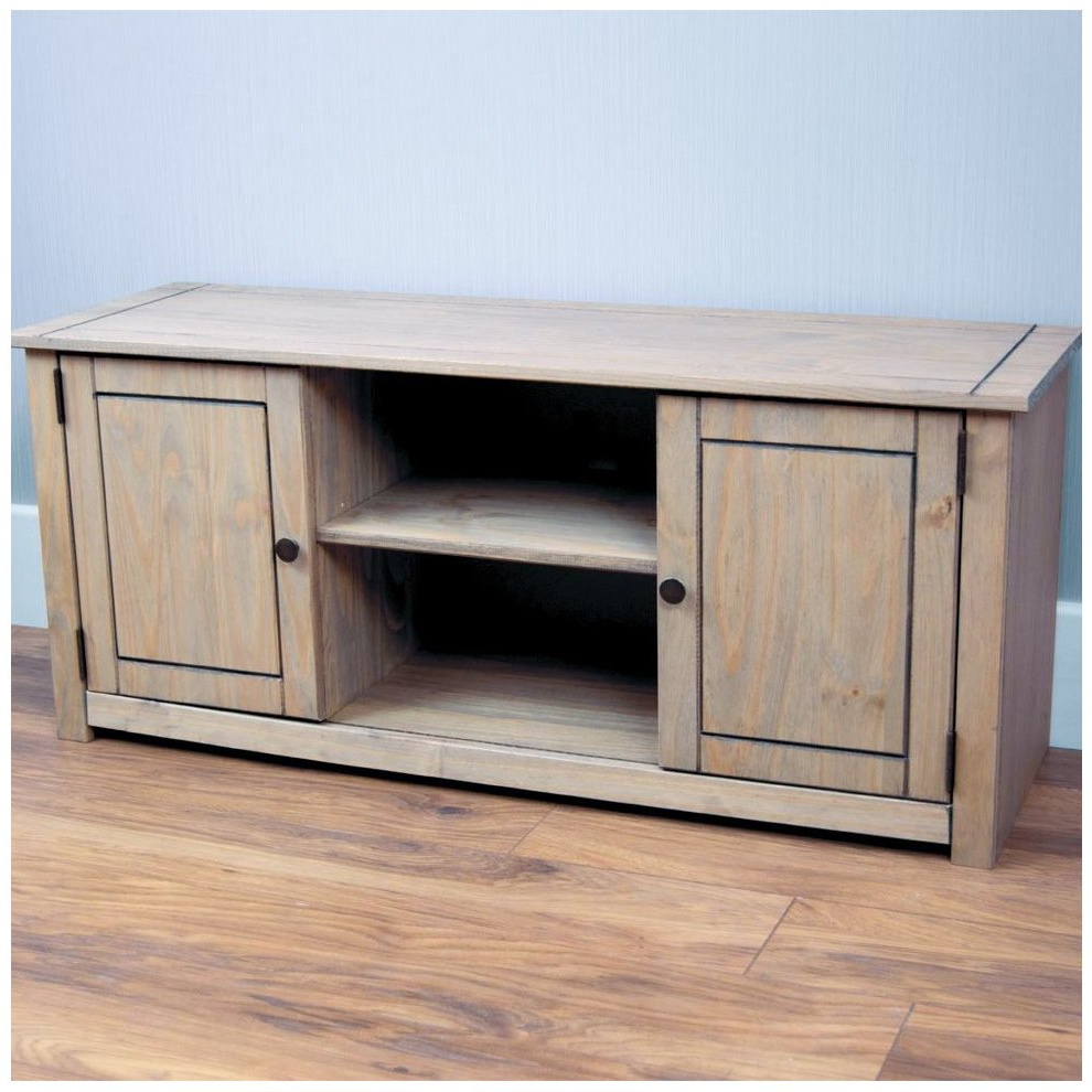 Famous Panama 2 Door 1 Shelf Tv Unit Cabinet Stand Cupboard Solid Throughout Panama Tv Stands (View 4 of 25)
