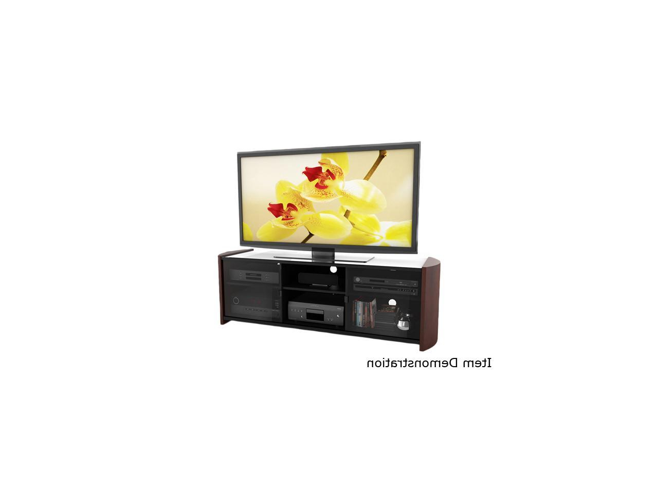"""Famous Sonax Ml 3609 37"""" – 70"""" Milan 67"""" Tv Bench With Real Wood Intended For Milan Glass Tv Stands (View 7 of 10)"""