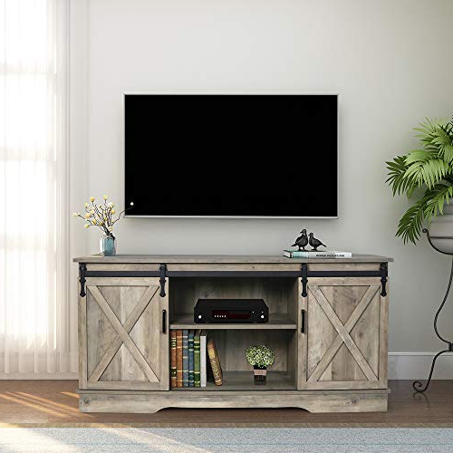 Famous Top 10 Ghqme Sliding Barn Door Tv Stand Of 2021 – Scriptencode With Regard To Tv Stands With Table Storage Cabinet In Rustic Gray Wash (View 6 of 10)