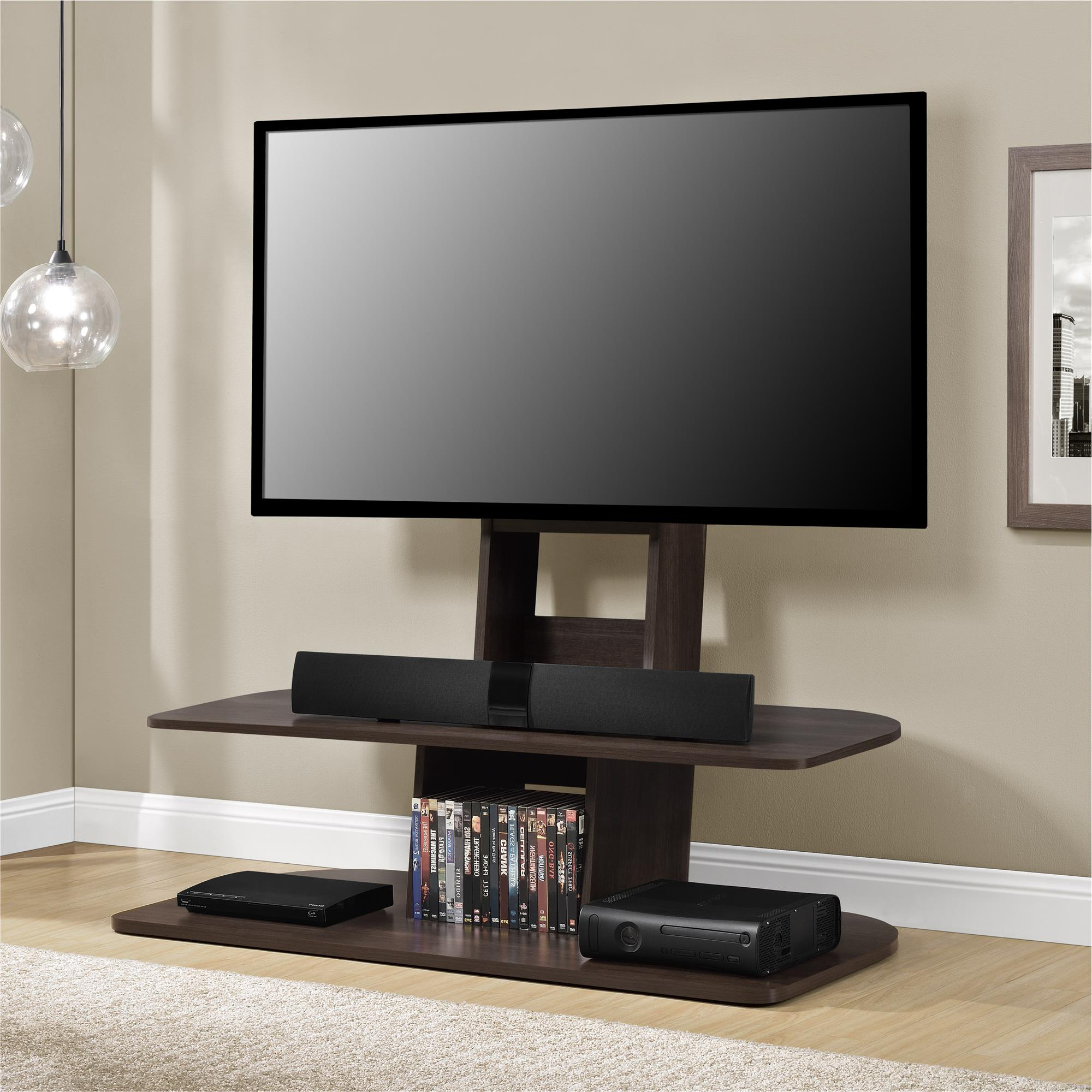 Famous Tv Stands Regarding Ameriwood Home Galaxy Xl Tv Stand With Mount For Tvs Up  (View 8 of 16)