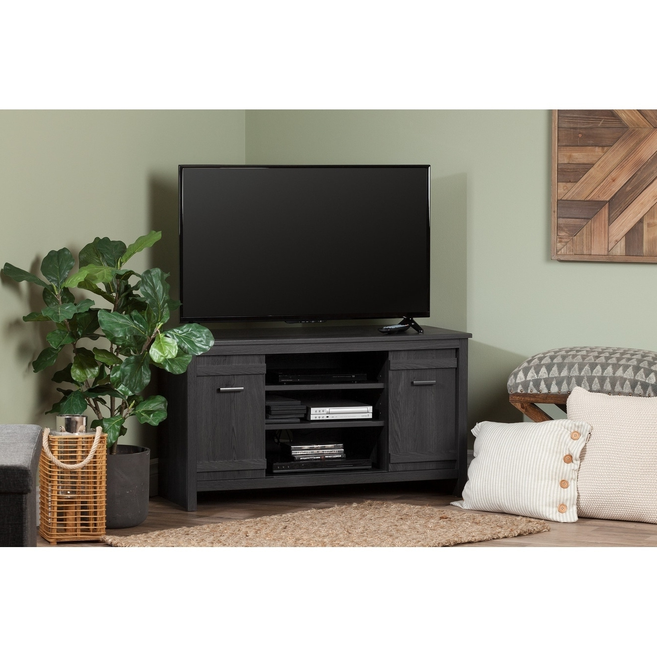 """Farmhouse Tv Stands For 75"""" Flat Screen With Console Table Storage Cabinet In Newest Exhibit Modern Storage Living Room Corner Tv Stand –  (View 1 of 10)"""