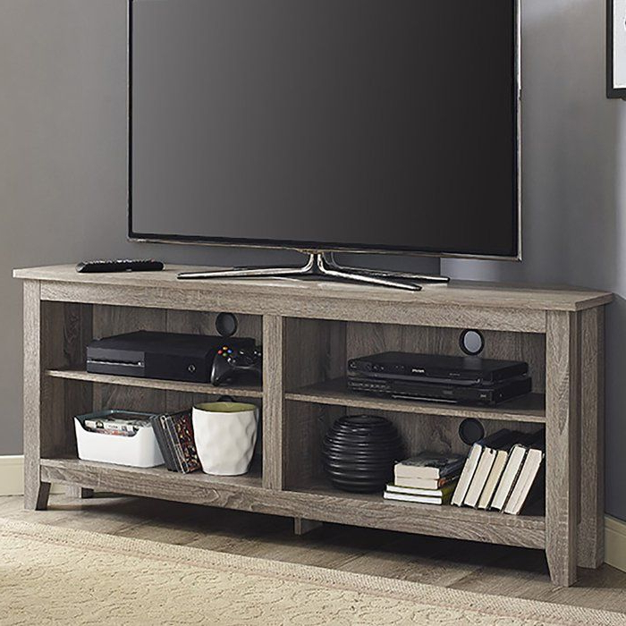 """Farmhouse Woven Paths Glass Door Tv Stands Inside Well Liked Belknap Tv Stand For Tvs Up To 65"""" (View 6 of 10)"""