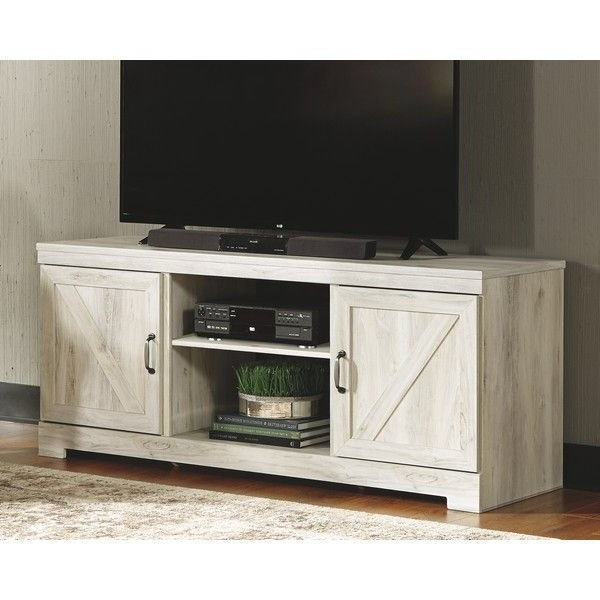 Farmhouse Woven Paths Glass Door Tv Stands Pertaining To Newest He73 Whitewash Tv Stand (View 4 of 10)