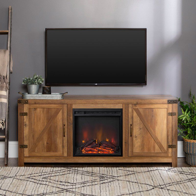 Fashionable Barn Door Wood Tv Stands Intended For Manor Park 58 In (View 7 of 10)