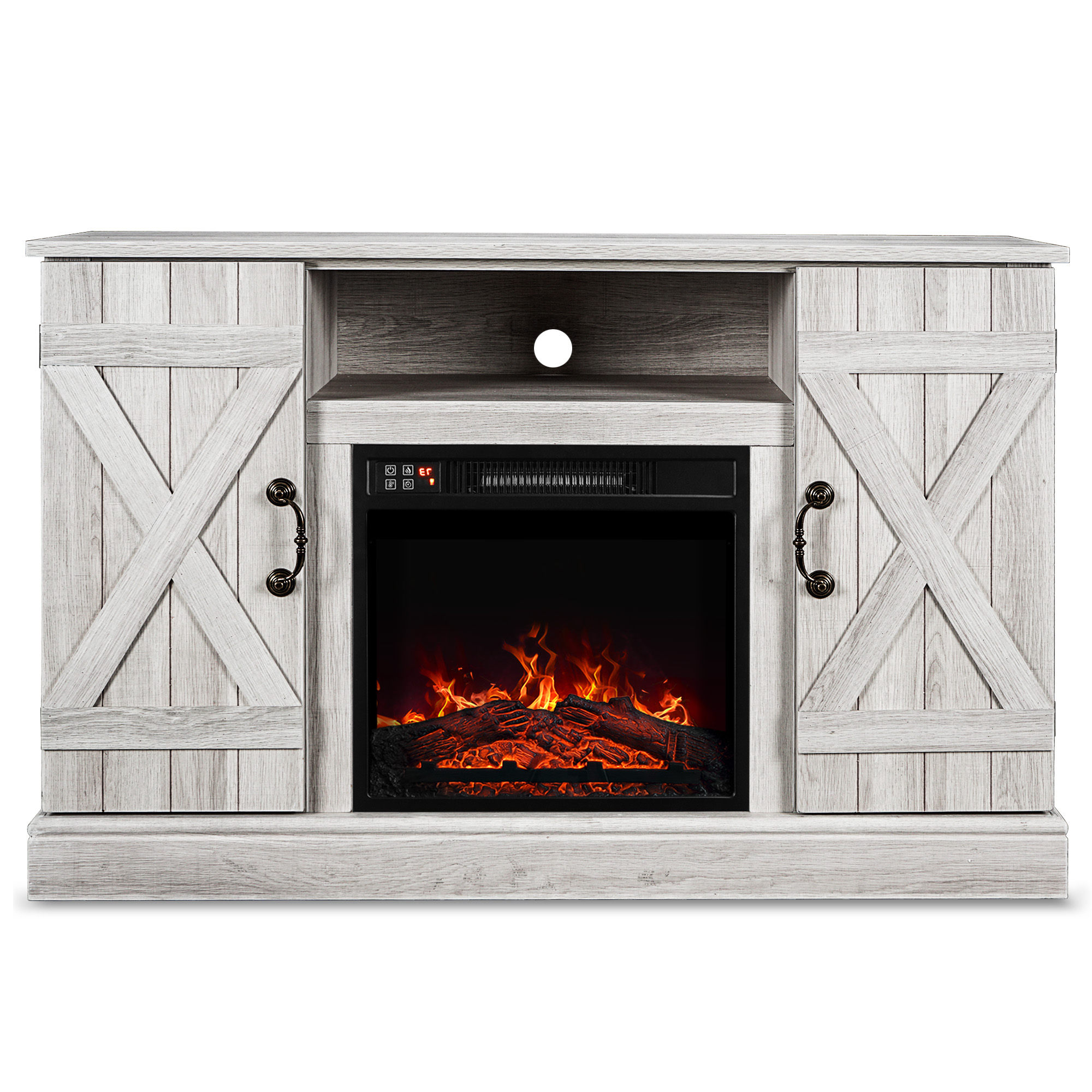 """Fashionable Belleze Infrared Electric Fireplace Tv Stand Entertainment Regarding Tracy Tv Stands For Tvs Up To 50"""" (View 22 of 25)"""