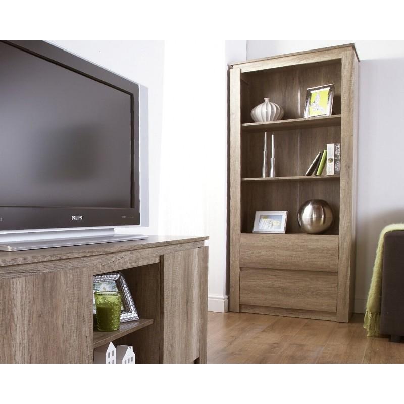 Fashionable Canyon Oak 3d Effect Bookcase Downstairs Range Regarding Canyon Oak Tv Stands (View 4 of 10)