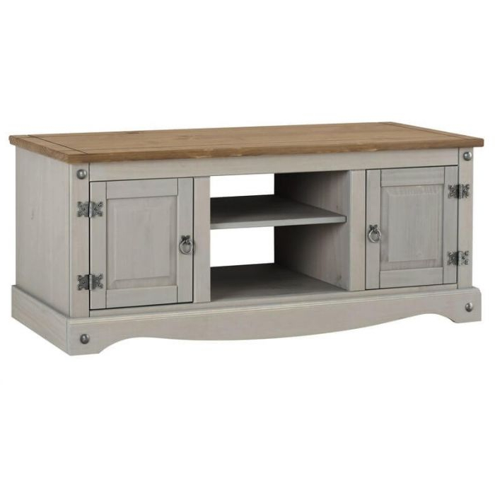 Fashionable Corona Tv Stands Intended For Core Products Corona Grey 2 Door Flat Screen Tv Unit (View 4 of 10)