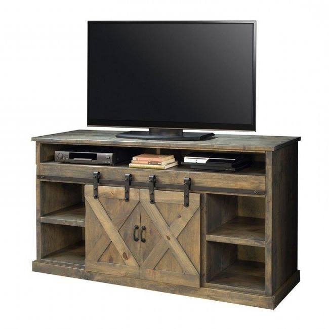 Fashionable Farmhouse 66 Inch Fireplace Console (barnwood With Modern Farmhouse Fireplace Credenza Tv Stands Rustic Gray Finish (View 9 of 10)