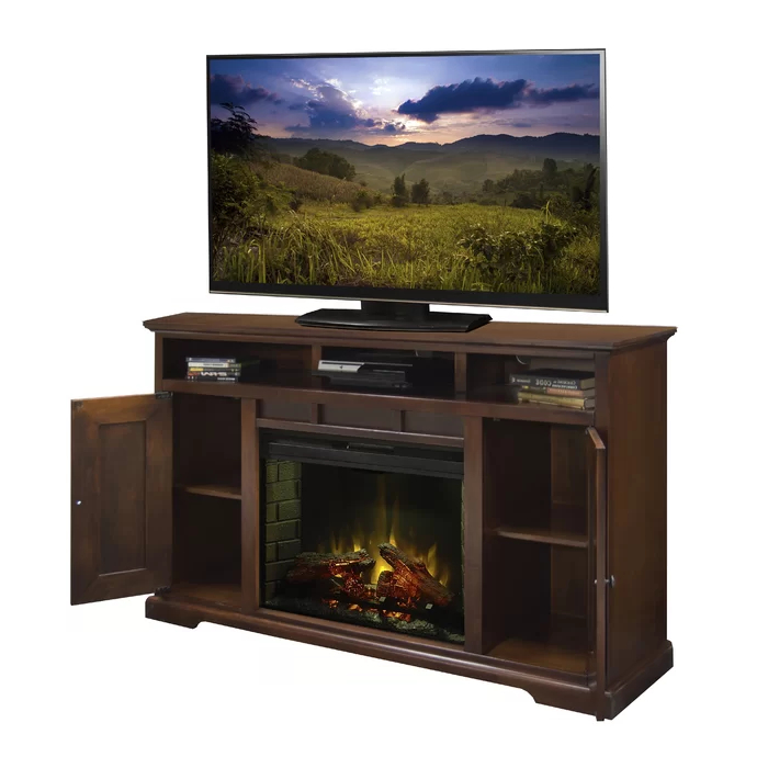 """Fashionable Hetton Tv Stands For Tvs Up To 70"""" With Fireplace Included Inside Legrand Tv Stand For Tvs Up To 70"""" Electric With Fireplace (View 7 of 25)"""