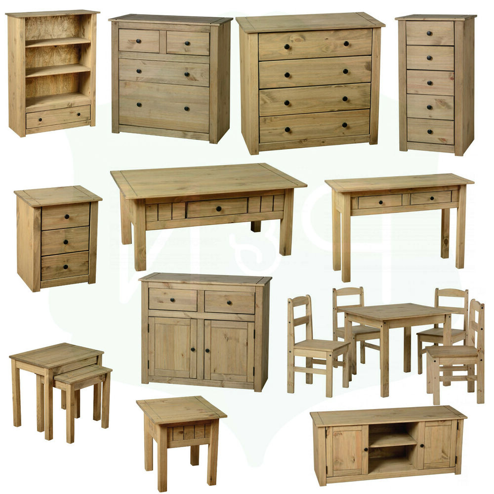Fashionable Pine Living Room Furniture Coffee Table Tv Stand Nest Of For Panama Tv Stands (View 24 of 25)