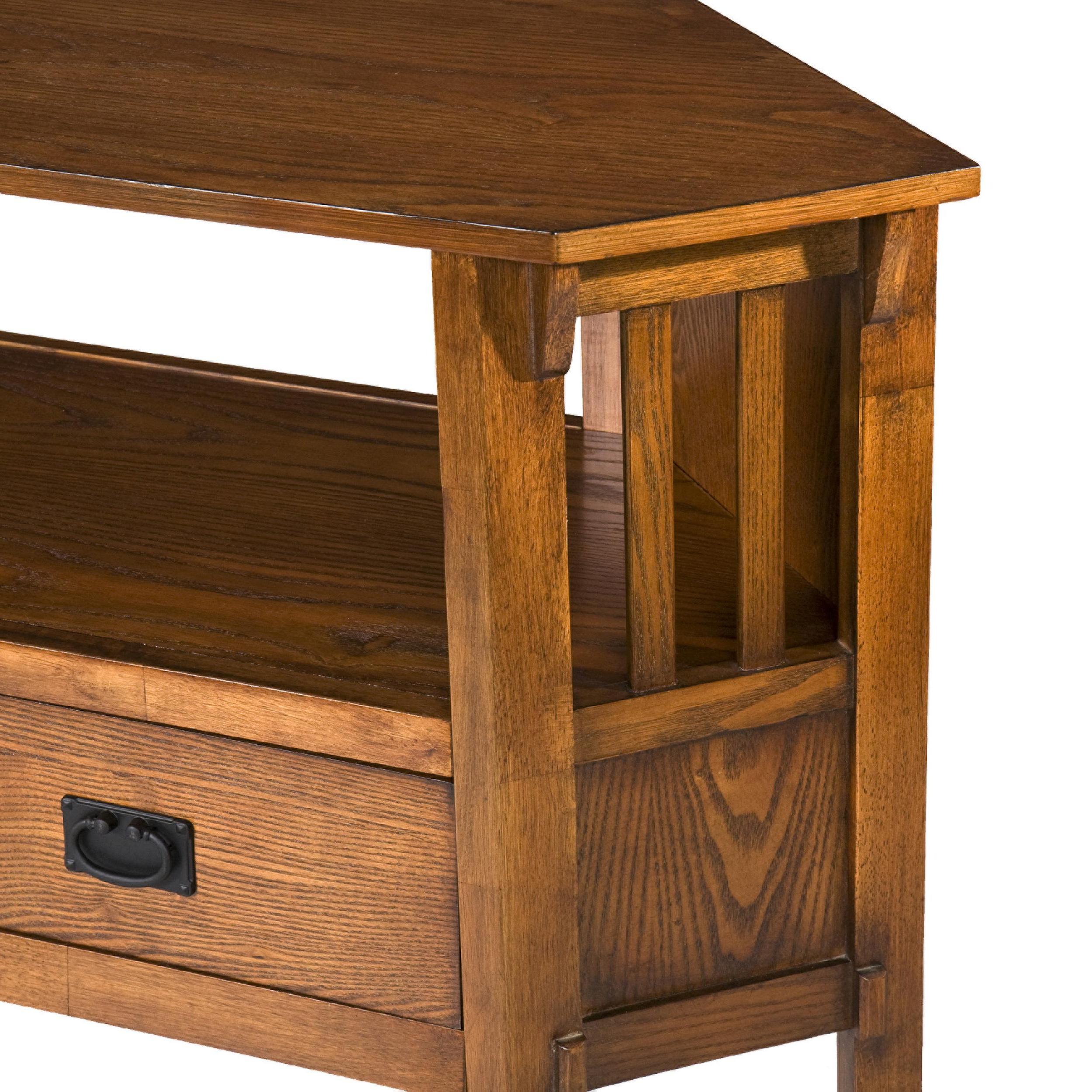 Fashionable Samira Corner Tv Unit Stands Regarding Amazon – Sei Carson Oak Corner Media Stand – Oak (View 7 of 10)