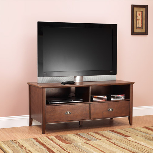 """Fashionable Sheridan Tv Stand For Tvs Up To 50"""", Walnut – Walmart In Leonid Tv Stands For Tvs Up To 50"""" (View 9 of 25)"""