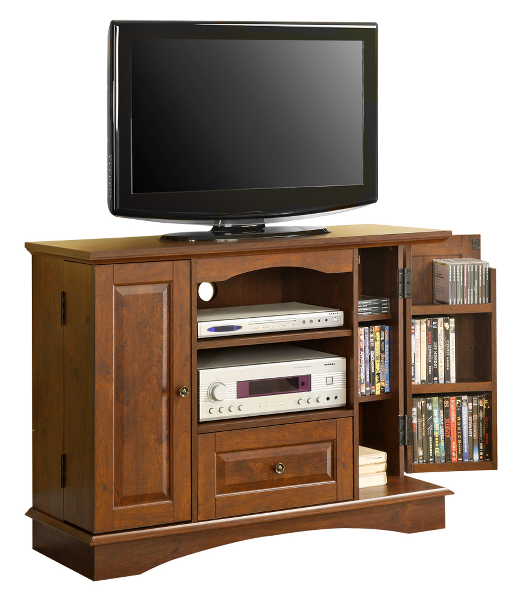 Favorite 42 Inch Wood Tv Stand With Media Storage In Tv Stands Inside Horizontal Or Vertical Storage Shelf Tv Stands (View 6 of 10)