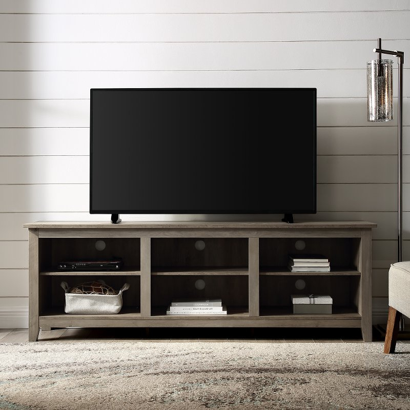 Favorite 70 Inch Rustic Wood Tv Stand – Grey Wash (View 18 of 25)