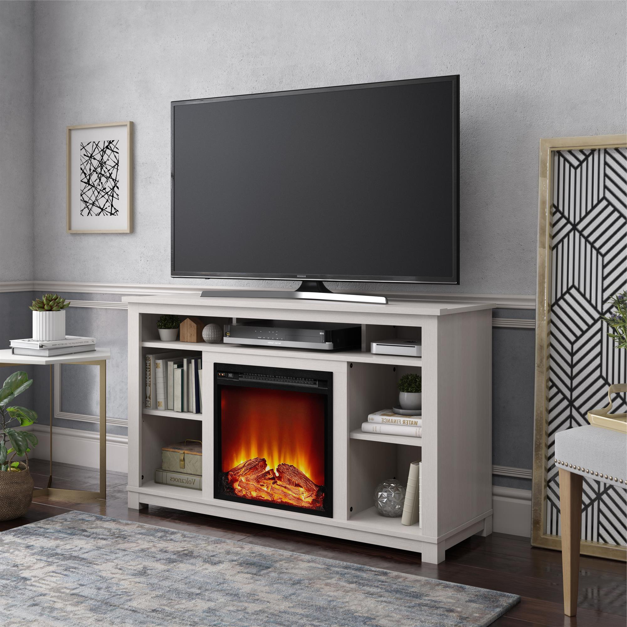 """Favorite Ameriwood Home Edgewood Fireplace Tv Stand For Tvs Up To Throughout Twila Tv Stands For Tvs Up To 55"""" (View 12 of 25)"""