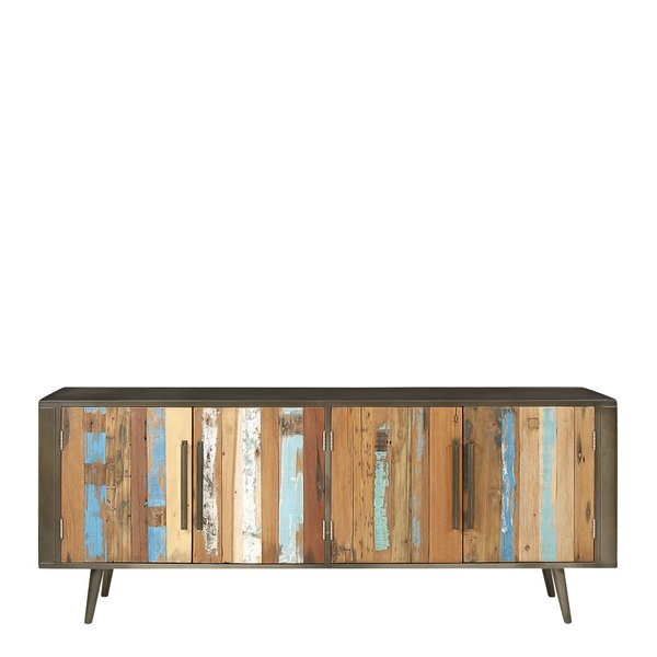 """Favorite Borough Wharf Ainez Recyc Boat Solid Wood Tv Stand For Tvs Throughout Griffing Solid Wood Tv Stands For Tvs Up To 85"""" (View 24 of 25)"""