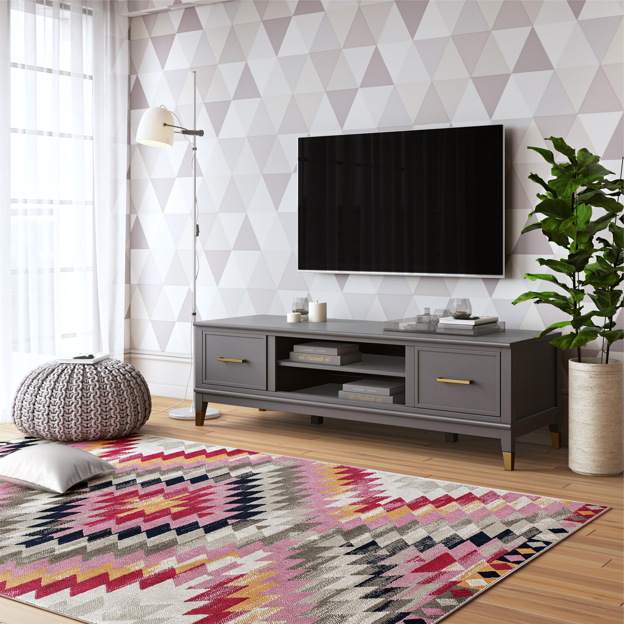 """Favorite Cosmolivingcosmopolitan Westerleigh Tv Stand For Tvs With Grenier Tv Stands For Tvs Up To 65"""" (View 18 of 25)"""