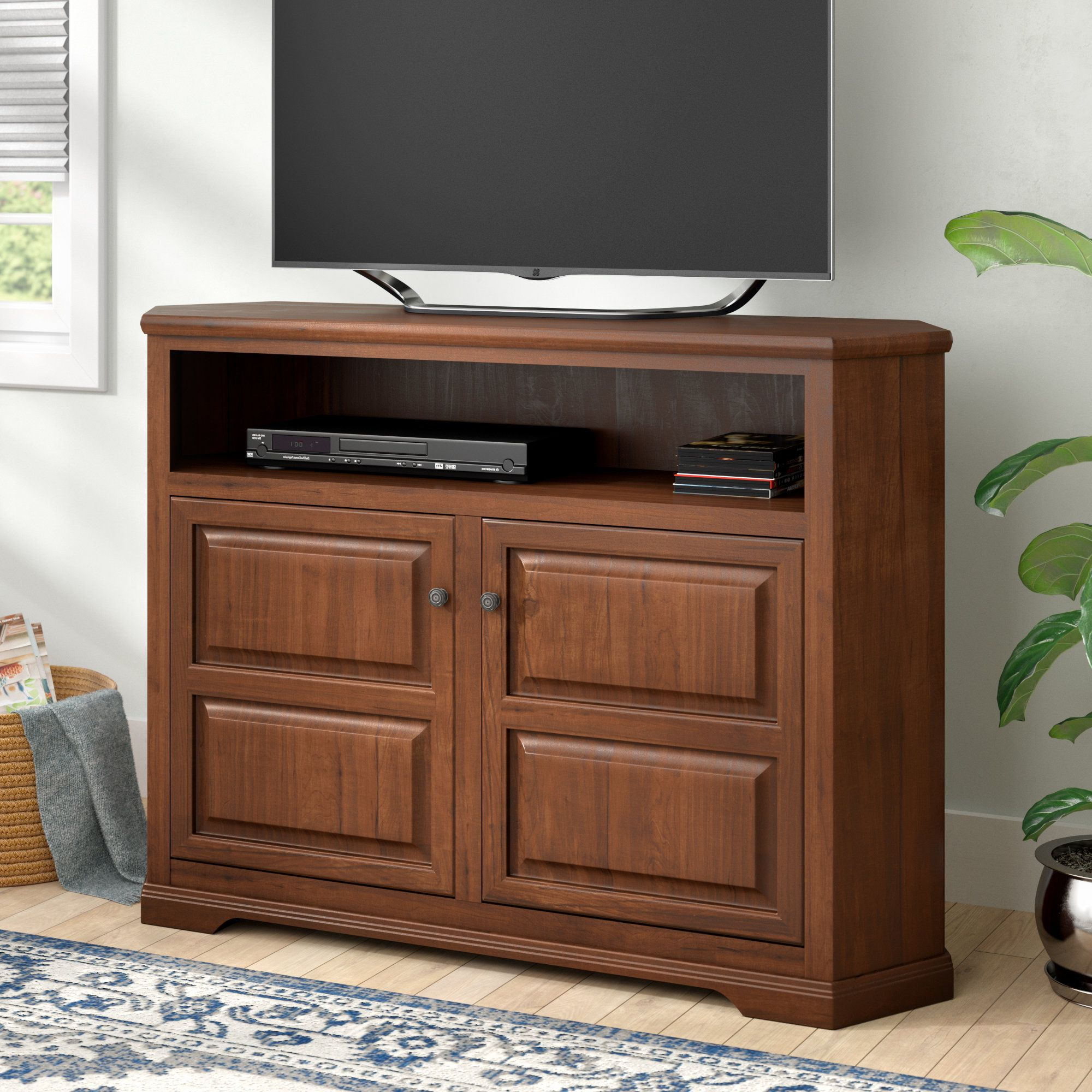 """Favorite Giltner Solid Wood Tv Stands For Tvs Up To 65"""" Intended For Wentzel Solid Wood Corner Tv Stand For Tvs Up To  (View 4 of 25)"""