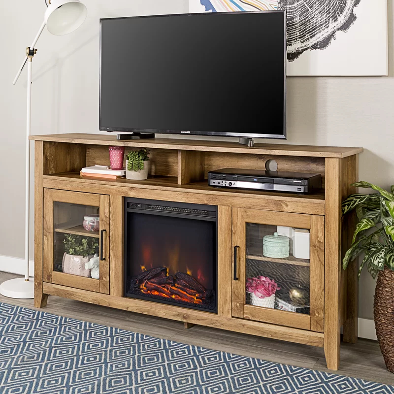 """Favorite Lorraine Tv Stands For Tvs Up To 60"""" With Fireplace Included Inside Kohn Tv Stand For Tvs Up To 65"""" With Fireplace Included (View 4 of 25)"""