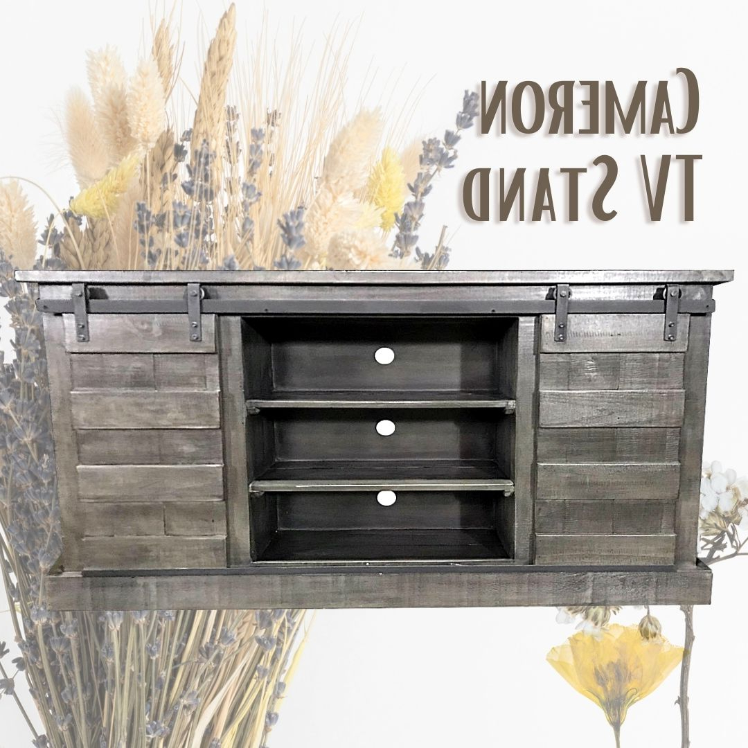 Favorite Lucy Cane Grey Wide Tv Stands Regarding Cameron Tv Stand With Staircase Doors – 11 11 Imports Llc (View 21 of 25)