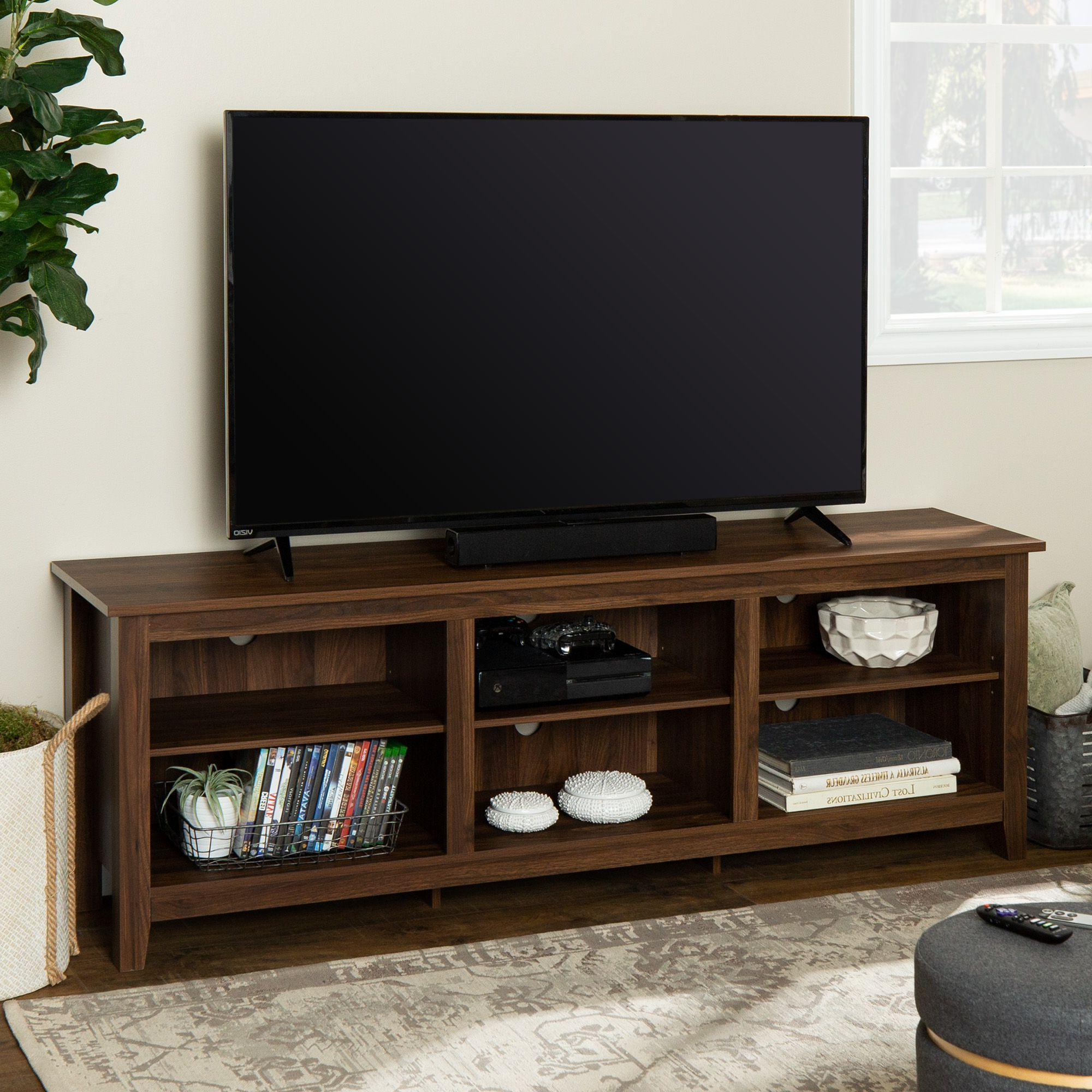 """Favorite Manor Park Wood Tv Media Storage Stand For Tvs Up To 78 Regarding Grandstaff Tv Stands For Tvs Up To 78"""" (View 10 of 25)"""