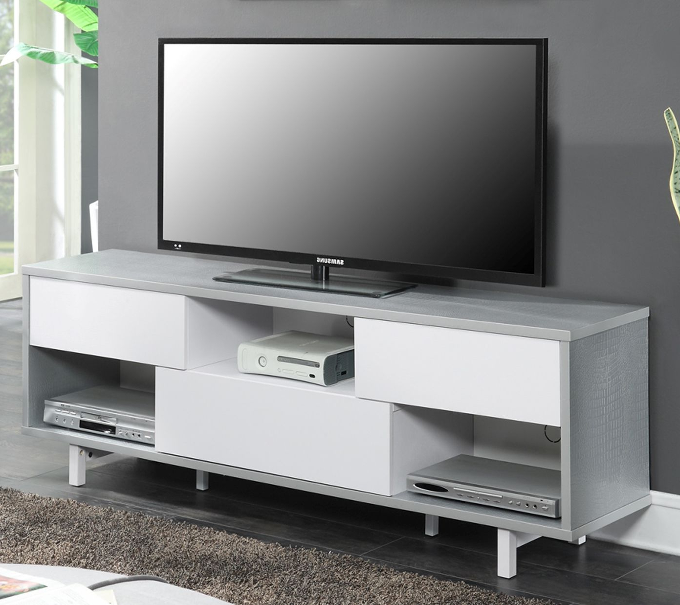 """Favorite Newport Ventura 60"""" Tv Stand In Weathered Gray/white /w With Regard To Convenience Concepts Newport Marbella 60"""" Tv Stands (View 9 of 10)"""