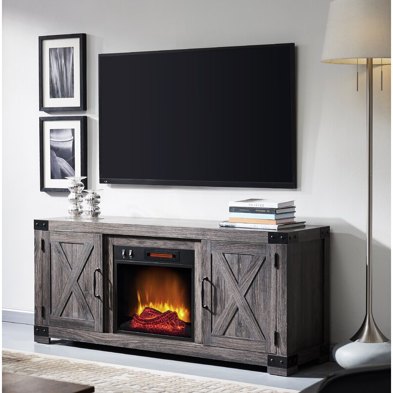"""Favorite Rickard Tv Stands For Tvs Up To 65"""" With Fireplace Included For Gracie Oaks Vasily Tv Stand For Tvs Up To 65"""" With (View 4 of 25)"""