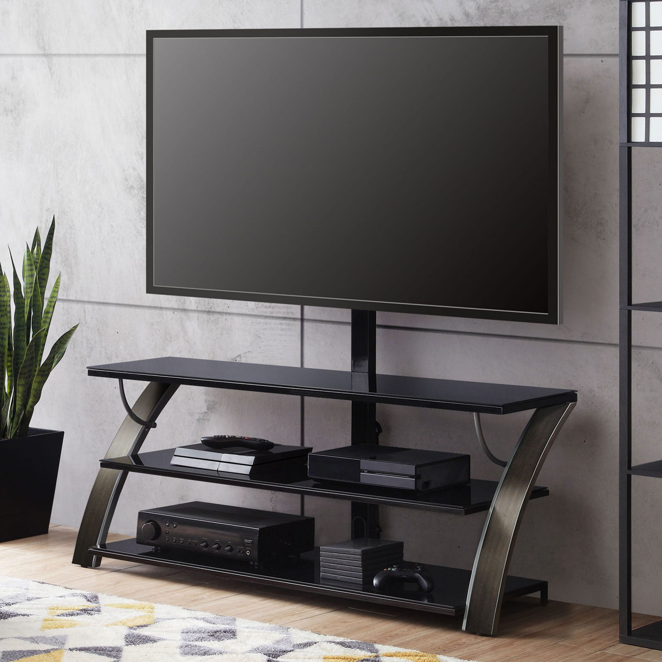 """Favorite Stamford Tv Stands For Tvs Up To 65"""" Pertaining To Whalen Payton 3 In 1 Flat Panel Tv Stand For Tvs Up To  (View 12 of 25)"""