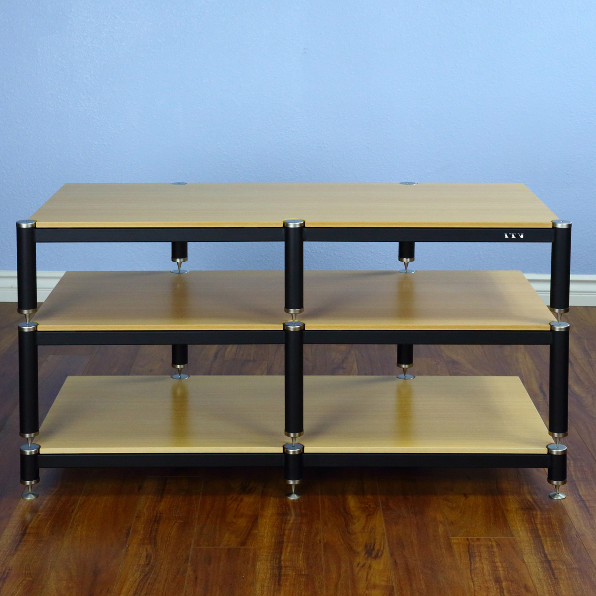 """Favorite Tv Stands For Tvs Up To 50"""" With Vti Bl Series Bl503 – 3 Shelf Audio Rack Tv Stand Up To  (View 25 of 25)"""