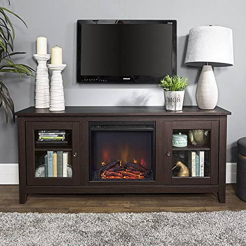 Favorite Tv Stands With Electric Fireplace: Amazon Inside Jackson Corner Tv Stands (View 9 of 25)