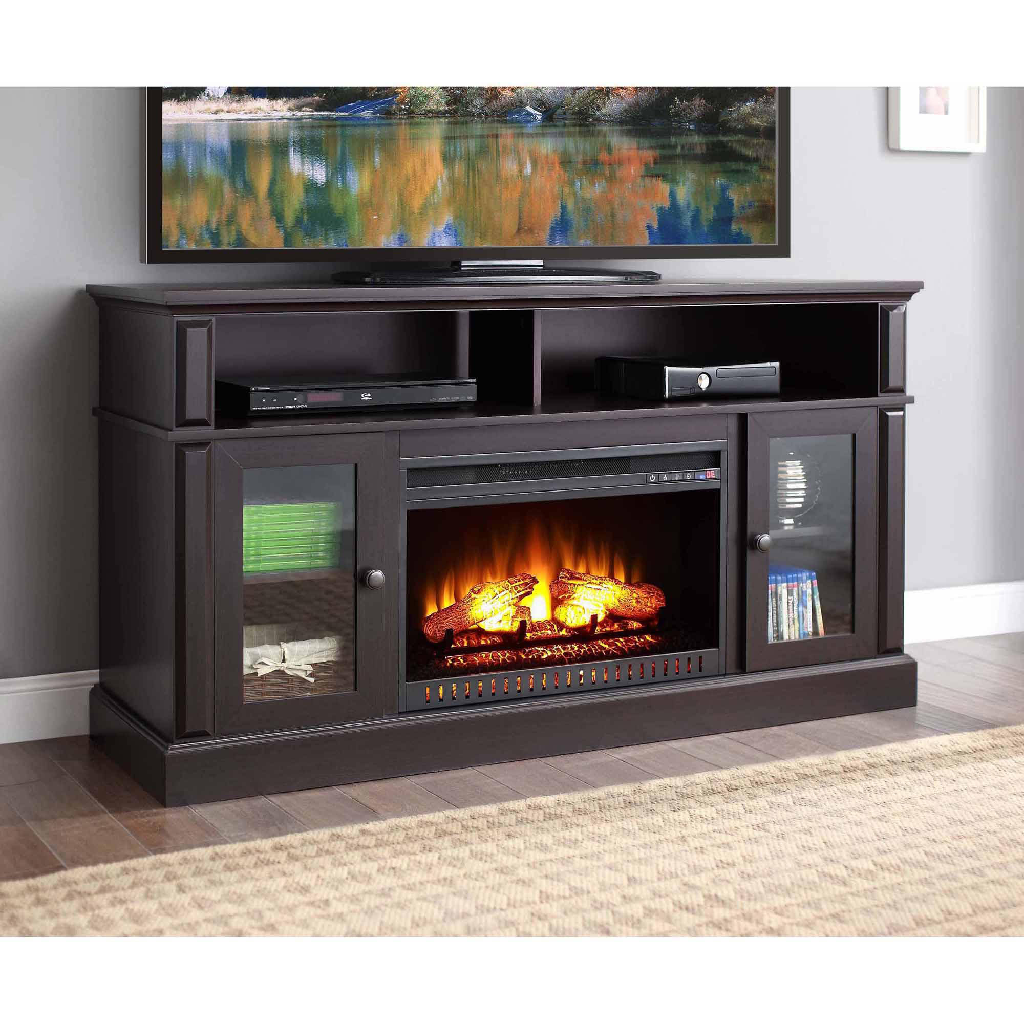 Favorite Whalen Barston Media Fireplace For Tv's Up To 70, Multiple With Fireplace Media Console Tv Stands With Weathered Finish (View 8 of 10)