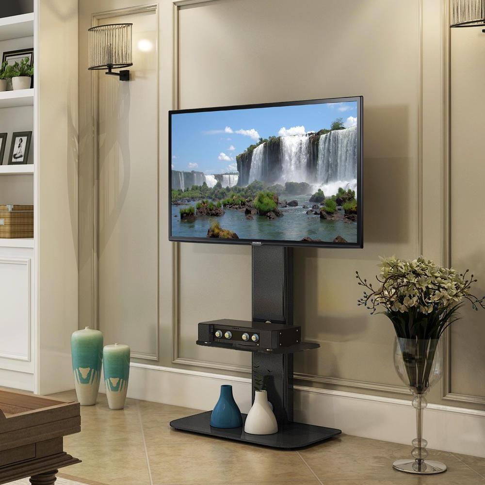 Fernsehtisch, Fernseher, Zimmer Regarding Well Known Whalen Shelf Tv Stands With Floater Mount In Weathered Dark Pine Finish (View 7 of 10)