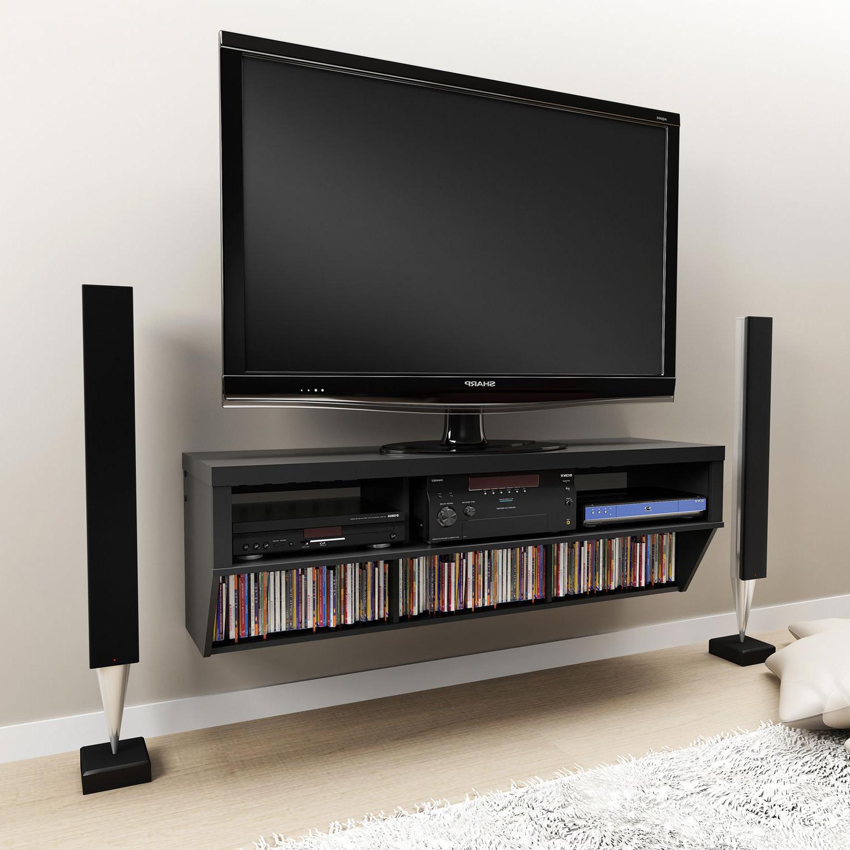 Floating Media Shelf Design – Homesfeed For Latest Floating Tv Shelf Wall Mounted Storage Shelf Modern Tv Stands (View 1 of 10)