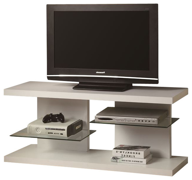 Floating Shelves Media Unit, White – Contemporary – Tv Intended For Popular Hannu Tv Media Unit White Stands (View 5 of 10)